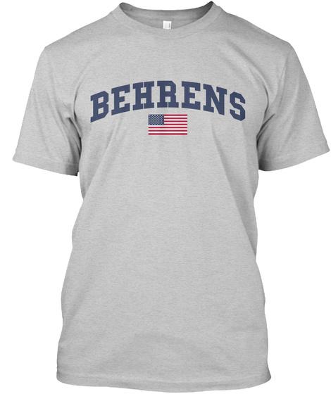 Behrens Family Flag Light Steel T-Shirt Front