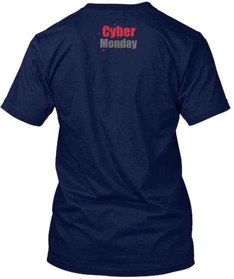 Cyber Monday Navy T-Shirt Back