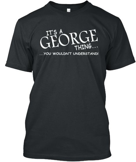 George Thing Black T-Shirt Front