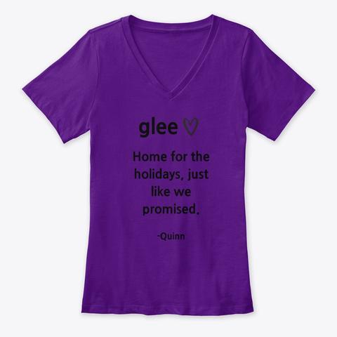 Glee   Quinn Team Purple  T-Shirt Front