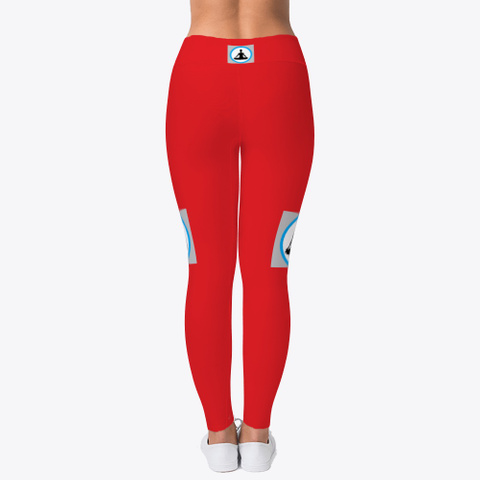 Yoga And Sports Leggings For Women Red T-Shirt Back