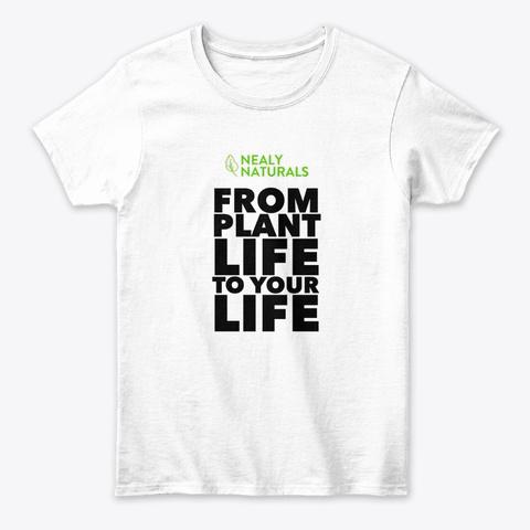 Vegan Beauty Slogan White T-Shirt Front