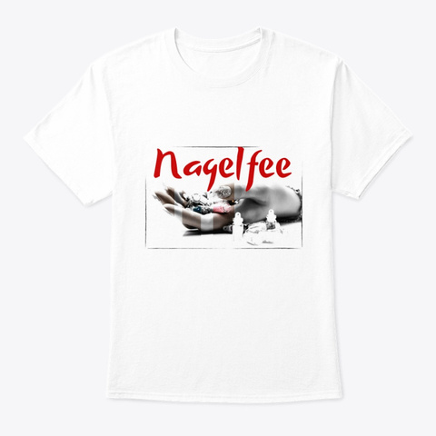 Nagelfee   Red White T-Shirt Front
