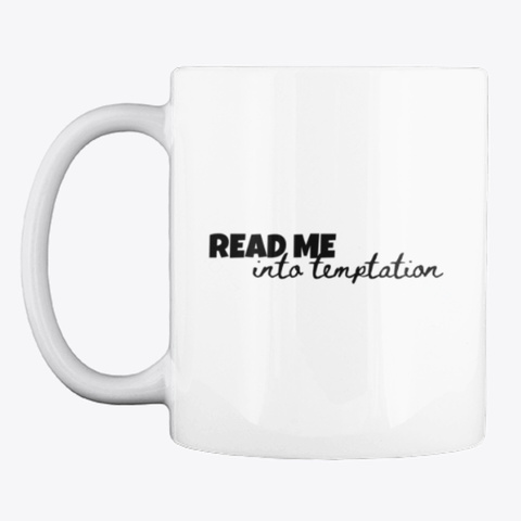 Read Me Into Temptation White áo T-Shirt Front