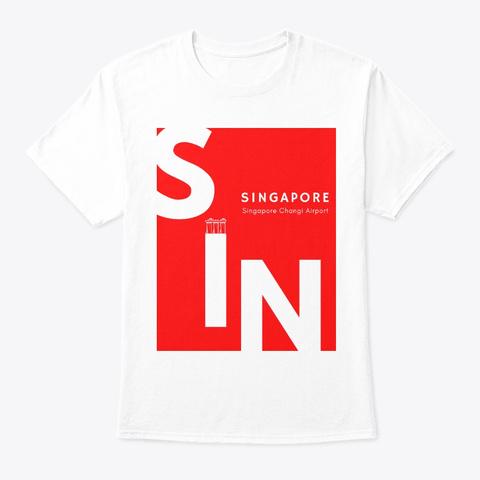 Destination   Singapore Sin White T-Shirt Front