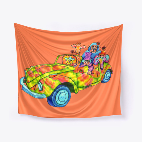Monica Hulsing Circus Car Coral T-Shirt Front