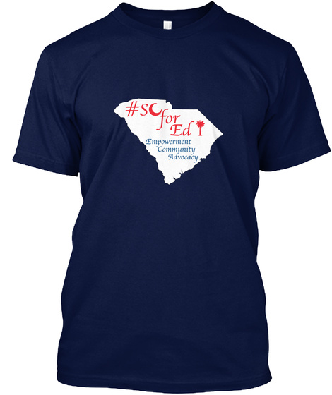 #Sofored Empowerment Community Advocacy Navy T-Shirt Front