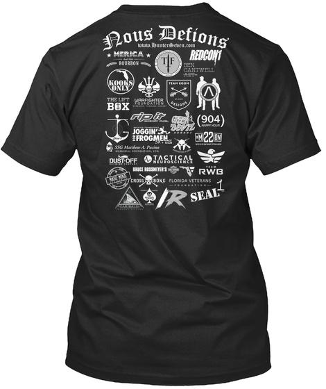 Nous Delions Black T-Shirt Back