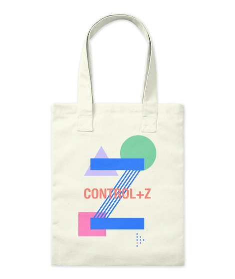 Control+Z Natural Tote Bag Front