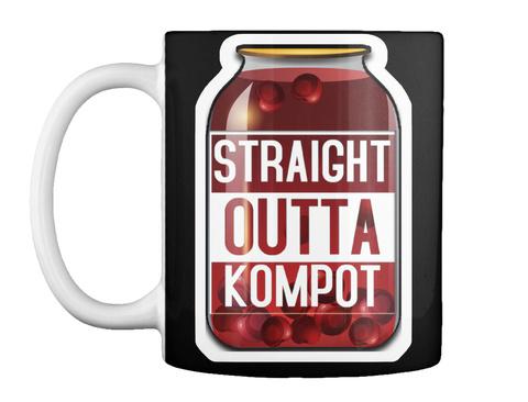 Straight Outta Kompot Black T-Shirt Front