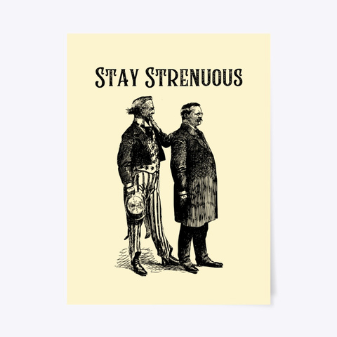 Stay Strenuous Poster Light Yellow T-Shirt Front
