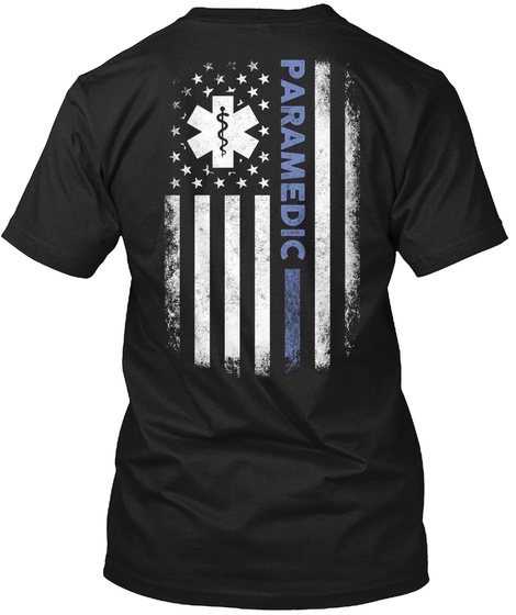 Paramedic Black T-Shirt Back