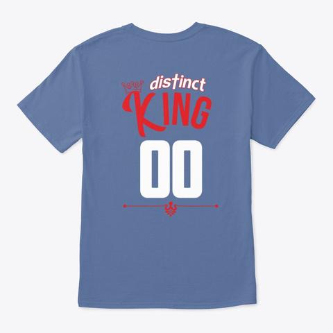 February Birthday King Denim Blue T-Shirt Back
