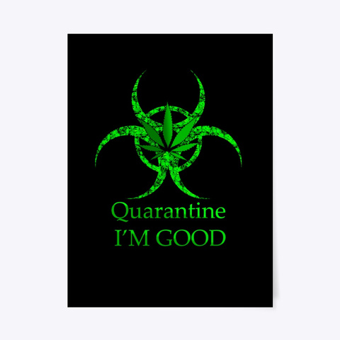 Poster Mug Bio Symbol  Weed Black T-Shirt Front