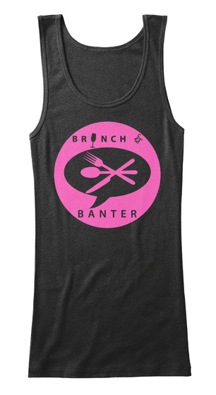 Brunch And Banter Tank And Tee Ladies Black T-Shirt Front