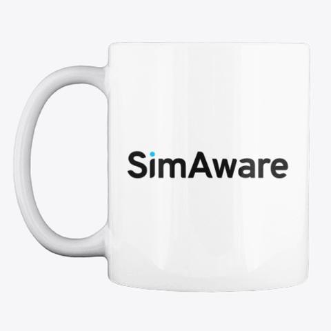 Sim Aware Logo Mug White T-Shirt Front