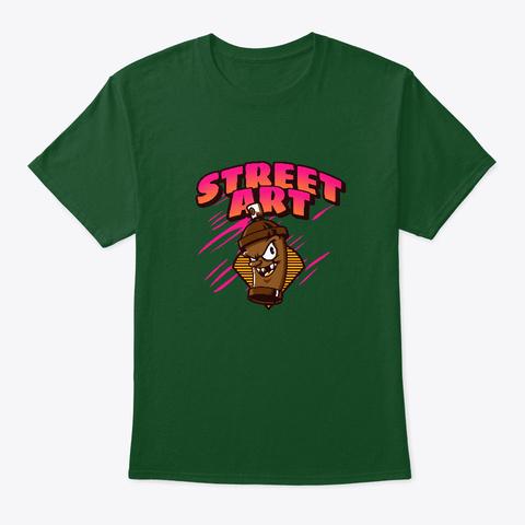 Streetwear Art Graffiti Deep Forest T-Shirt Front