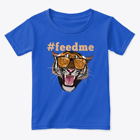Tiger With Glasses  Royal  T-Shirt Front