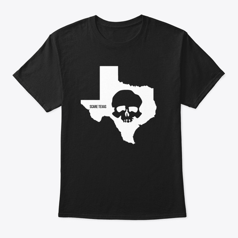 Limited Edition Scare Texas Skully Black T-Shirt Front
