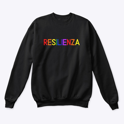 Resilienza   Learn Amo Collection Black T-Shirt Front