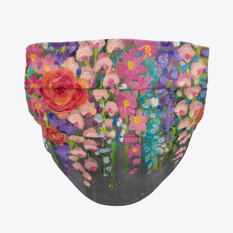 Hanging Floral Face Mask Standard T-Shirt Front