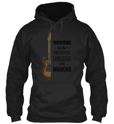 Music Quotes Black T-Shirt Front