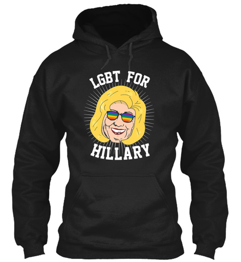 Lgbt For Hillary Black T-Shirt Front