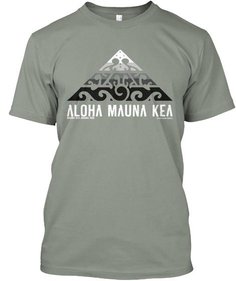 Aloha Mauna Kea Grey T-Shirt Front