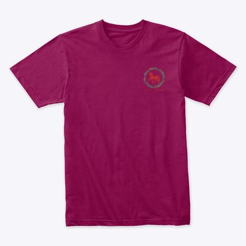 Equestrian Gingerbread Cookies Cardinal T-Shirt Front
