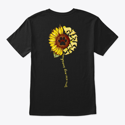 You Are My Sunshine   Aussie Black T-Shirt Back