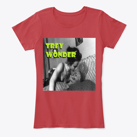 Trey Wonder Girl Tee Classic Red Women's T-Shirt Front