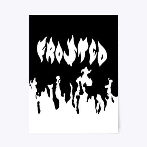 Flame Poster White T-Shirt Front