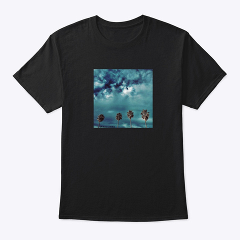 Duke La Mode 4 Palm Trees  Black T-Shirt Front