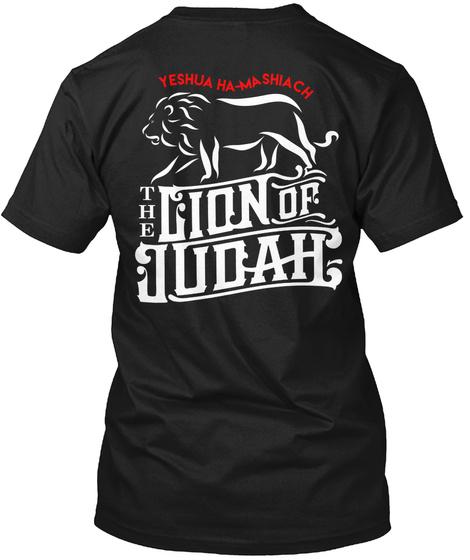 Yeshua Ha Ma Shiachi The Lion Of Judah Black T-Shirt Back