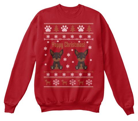 Dog Christmas Sweater.Miniature Pinscher Dog Christmas Sweater