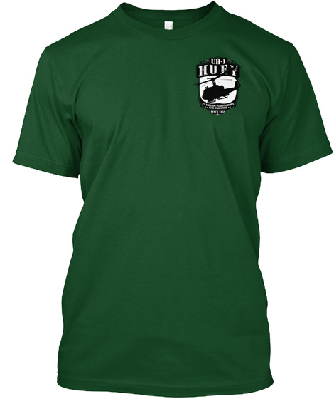 Uh 1 Huey Deep Forest T-Shirt Front