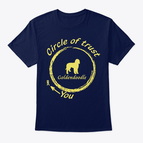 Goldendoodle Circle Of Trust Navy T-Shirt Front