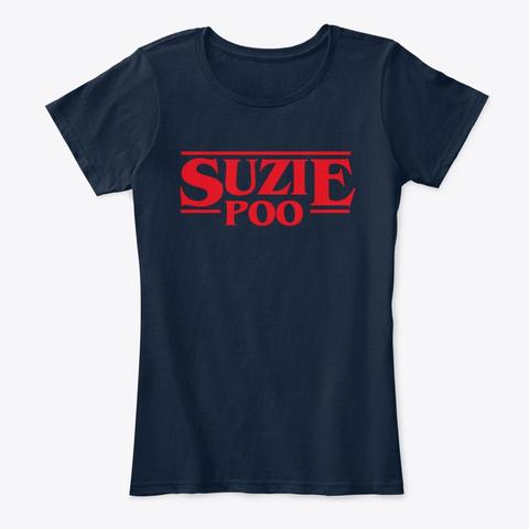 Suzie Poo (Dusty Bun Lovely Girlfriend) New Navy T-Shirt Front