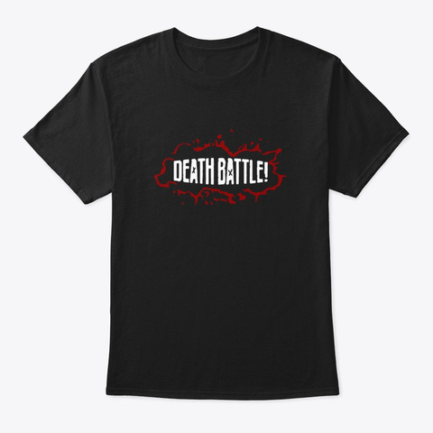 Death Battle Logo Shirt Black T-Shirt Front