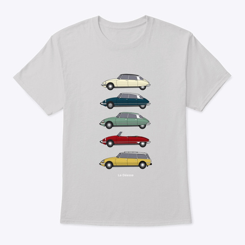 Citroen Ds Classic Car Collection Light Steel T-Shirt Front