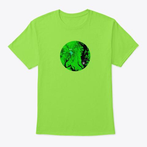 Washington D.C. Shirt Pillow Map Lime T-Shirt Front