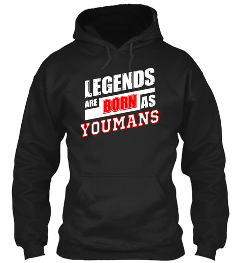 Youmans Family Name Shirt Black T-Shirt Front
