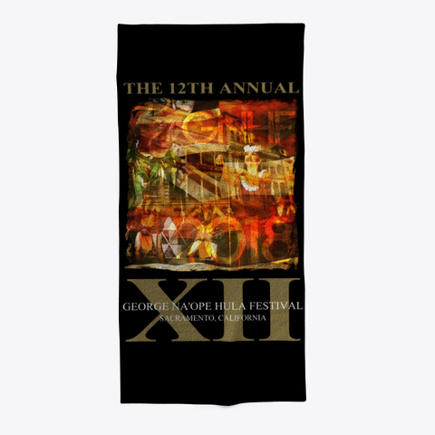 Official 2018 Gnhf Beach Towel Black T-Shirt Front