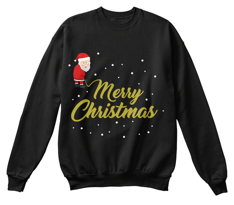 Merry Christmas Black T-Shirt Front