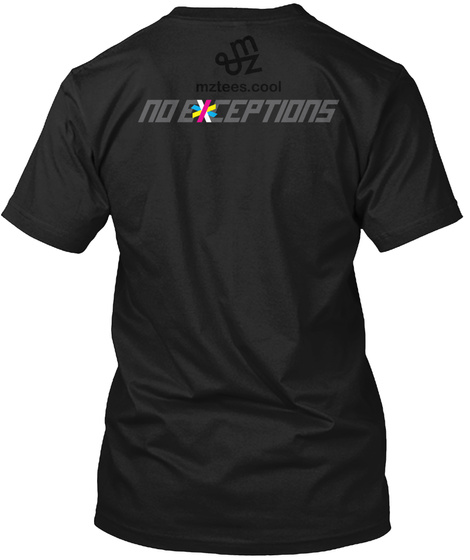 The Exception Black T-Shirt Back