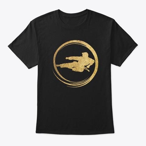 Taekwondo Kick T Shirt Black Camiseta Front