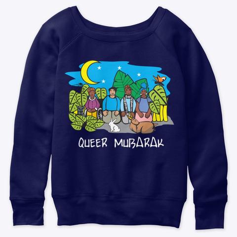 Slouchy Queer Mubarak Sweatshirt  Navy  T-Shirt Front