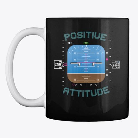 Mentour Crew   Positive Attitude Black T-Shirt Front