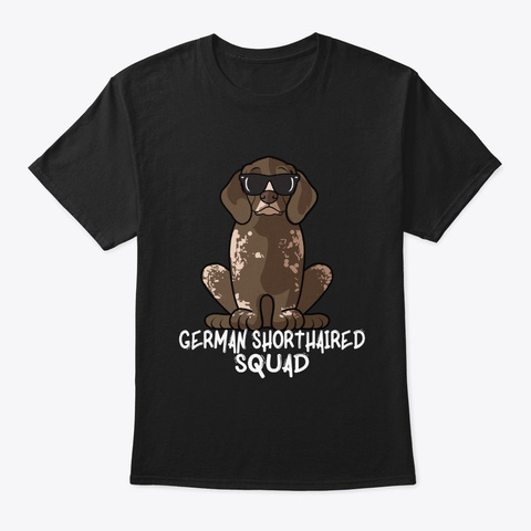 German Shorthaired Pointer Howl O Ween D Black T-Shirt Front