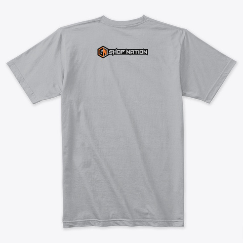 Conquer Shop Greatness Tee Heather Grey T-Shirt Back